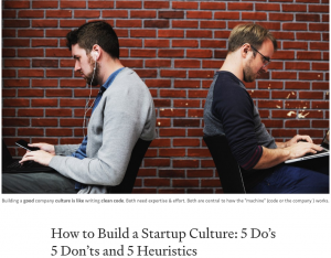 Top tips for culture building